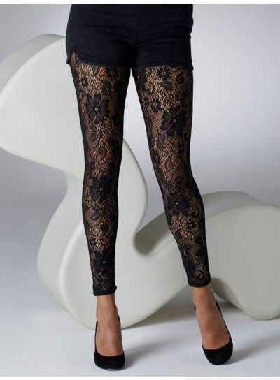 Gipsy Flower Lace Patterned Leggings