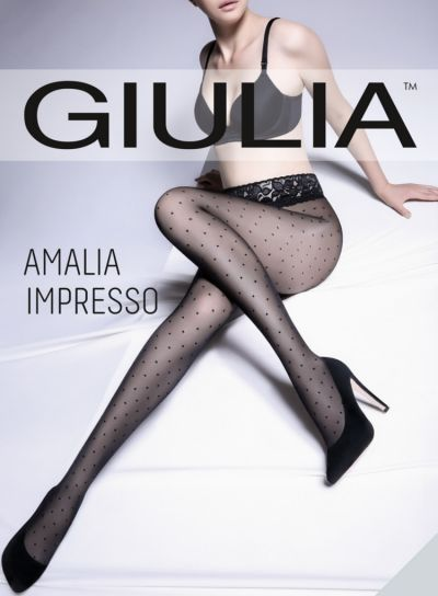 Giulia Amalia Impresso Polka Dot Tights