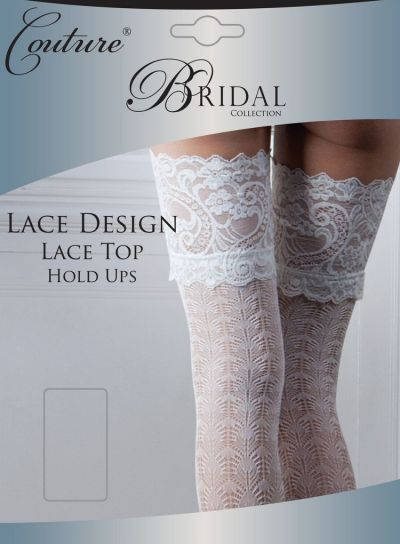 Couture Bridal Lace Top Ivory Hold Ups