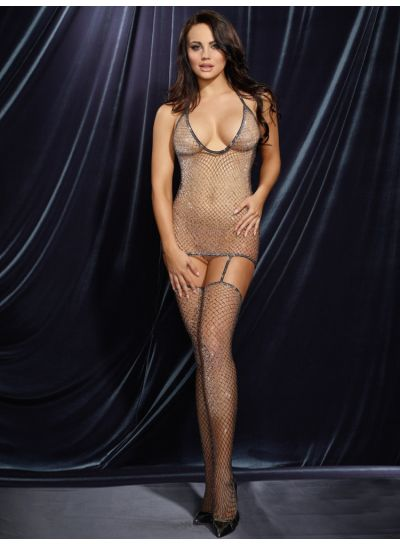 Dreamgirl-Fishnet-Metallic-Bodystocking