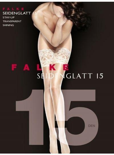 Falke Seidenglatt 15 Deep Lace Top Hold Ups