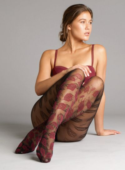 Jonathan Aston Two Tone Leaf Patterned Tights