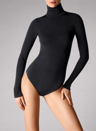 Wolford Colorado G String Long Sleeved Black Bodysuit