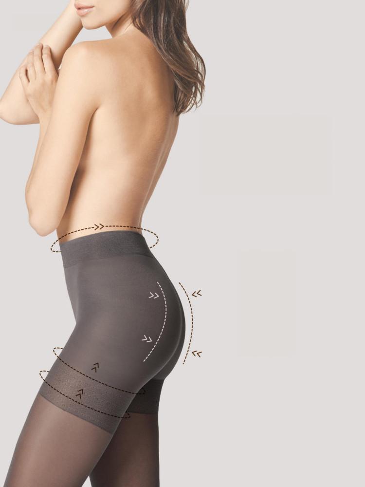 Image of Fiore TOTAL-Slim 40 Denier Bodyshaper Tights Tan XL/5