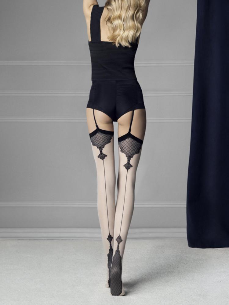 Image of Fiore Vanity 40 Denier Stockings-Linen-L/4