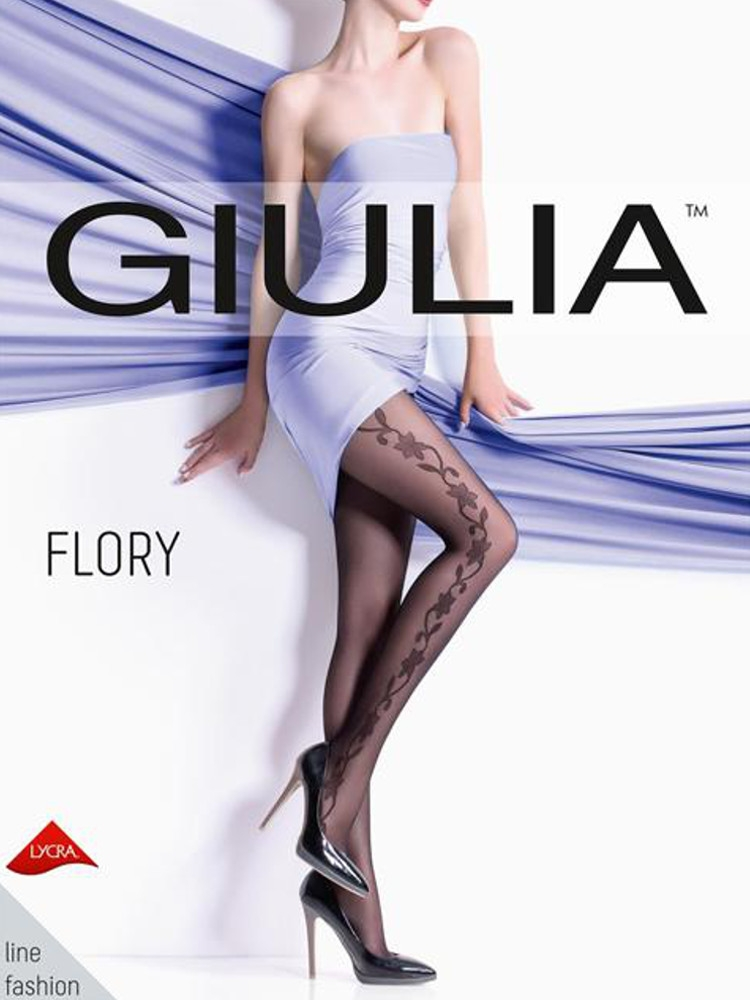 Image of Giulia Flory Fashion Tights - Hosiery Outlet-Medium-Nero