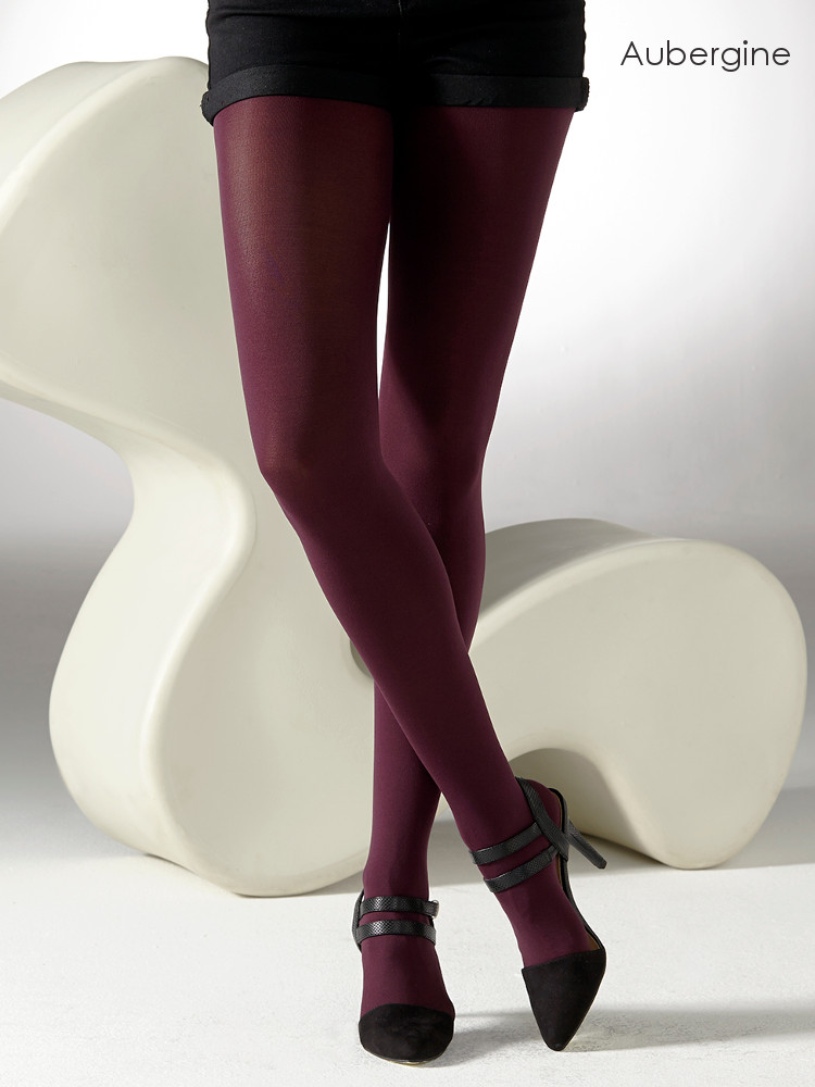 Image of Gipsy 100 Denier Luxury Opaque Tights - Also Available in XL-Small-Burnt Orange