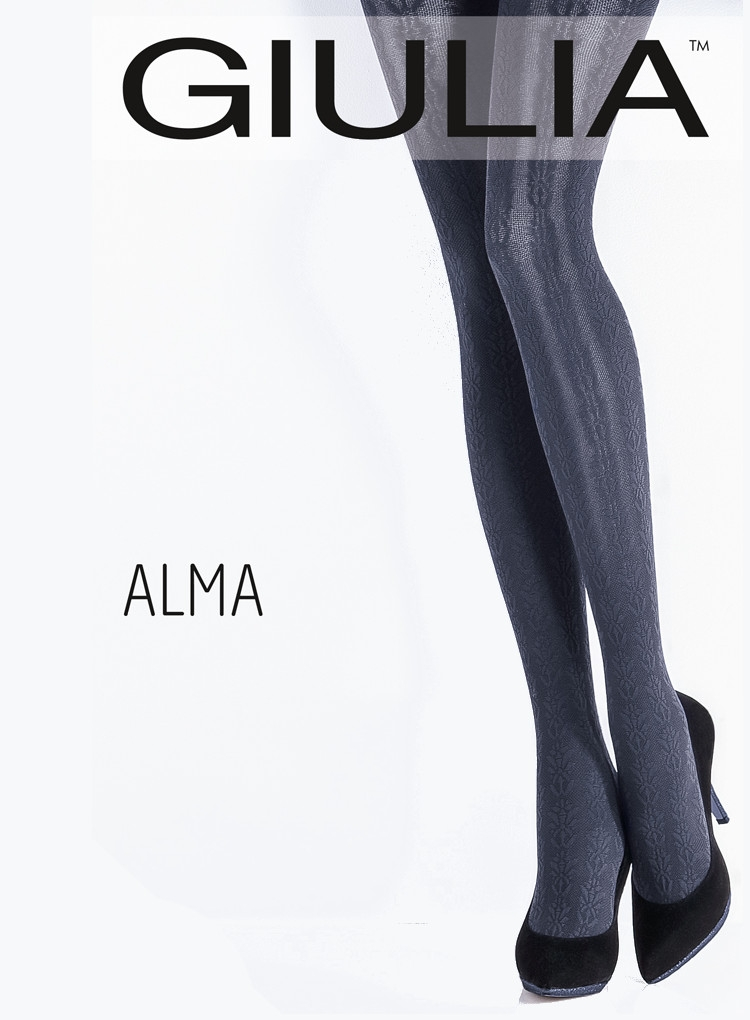 Image of Giulia Alma 120 Model 2 Patterned Tights -Small-Fumo