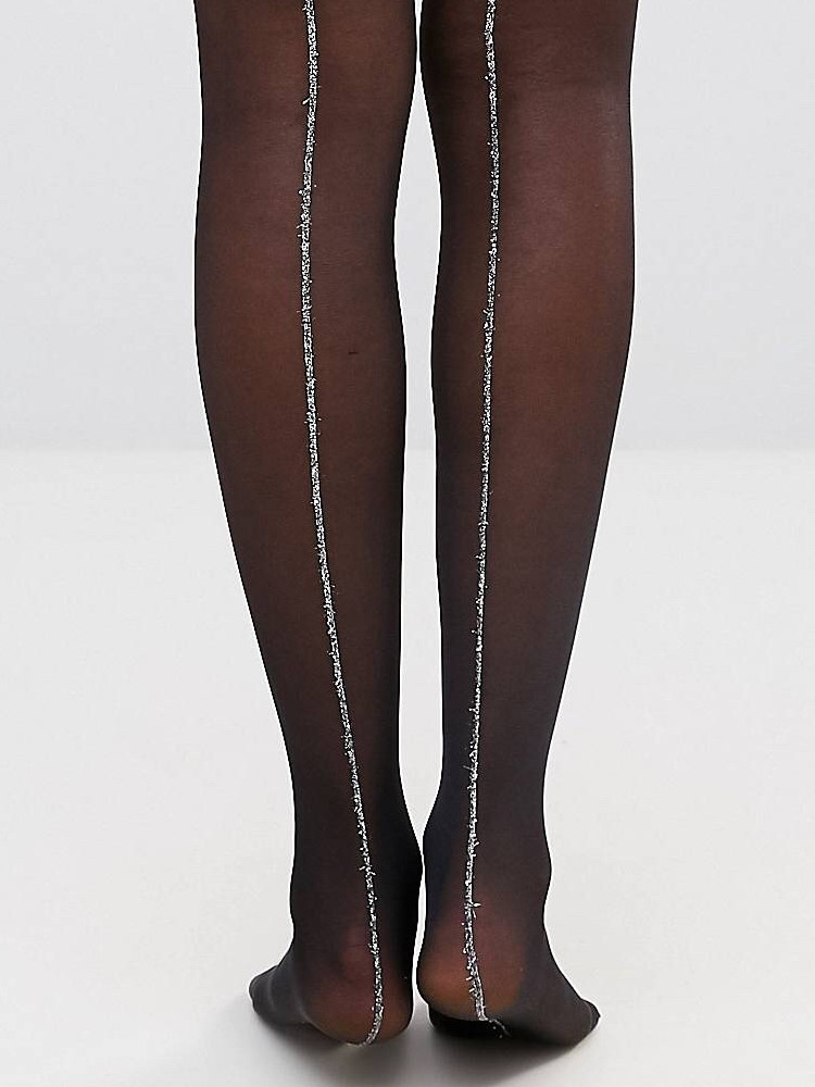 5d1190cdd8709 Gipsy Sparkle Seam Tights, Sheer Black Seamer - Hosiery Outlet | eBay