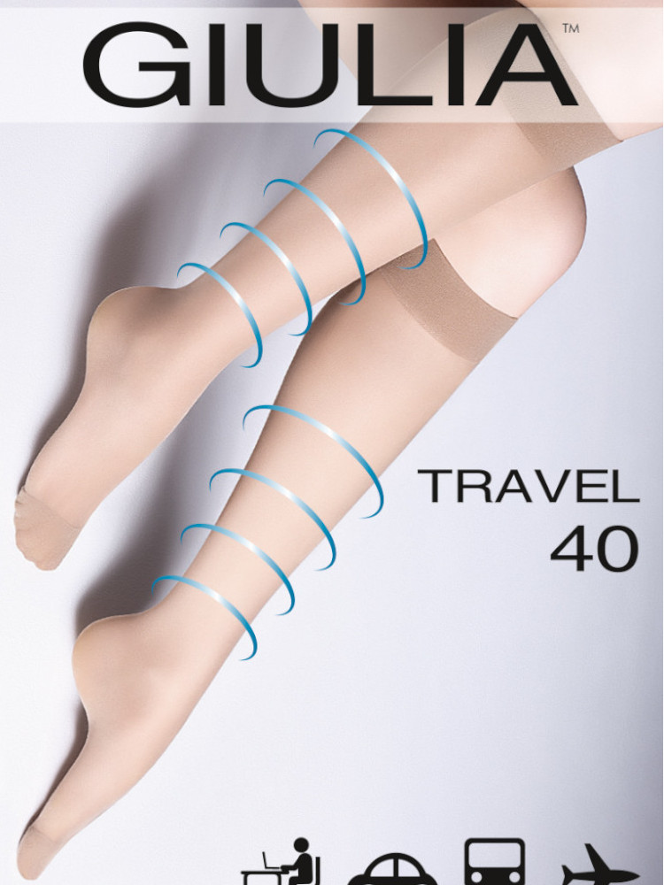 Image of Giulia 40 Travel Socks-One Size-Black