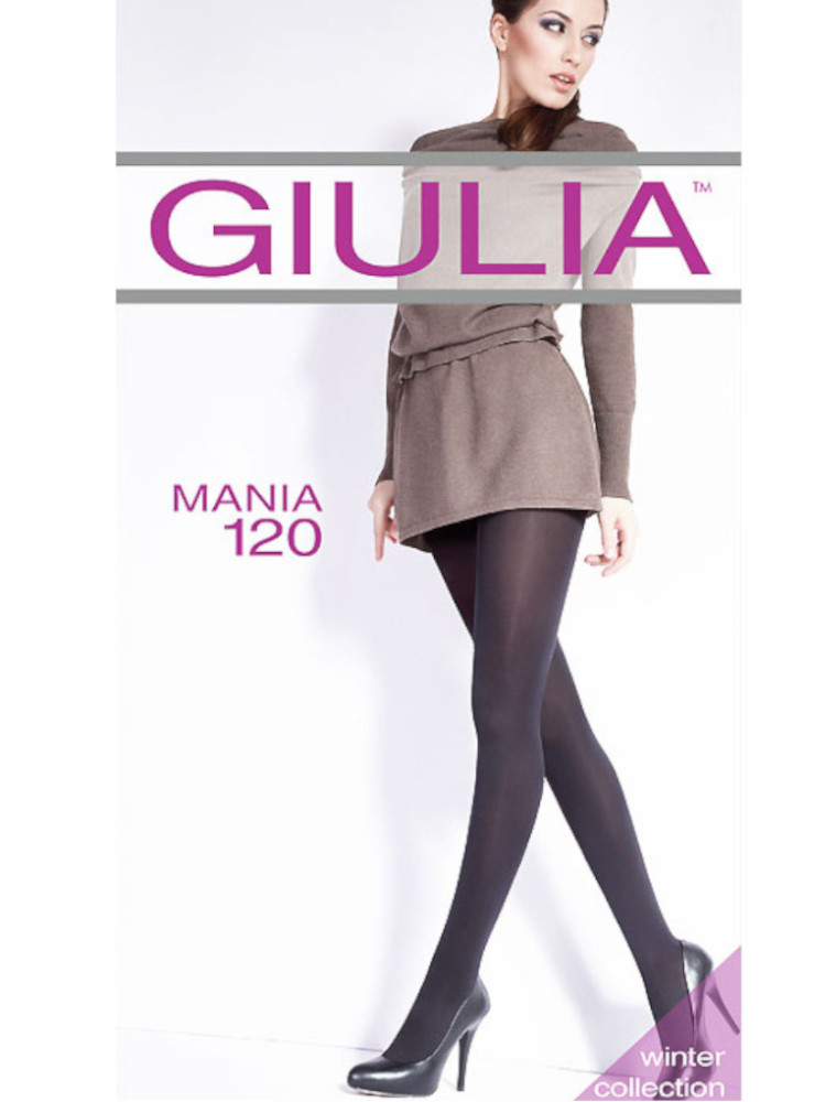 Image of Giulia Mania 120 Denier Tights -S-Black