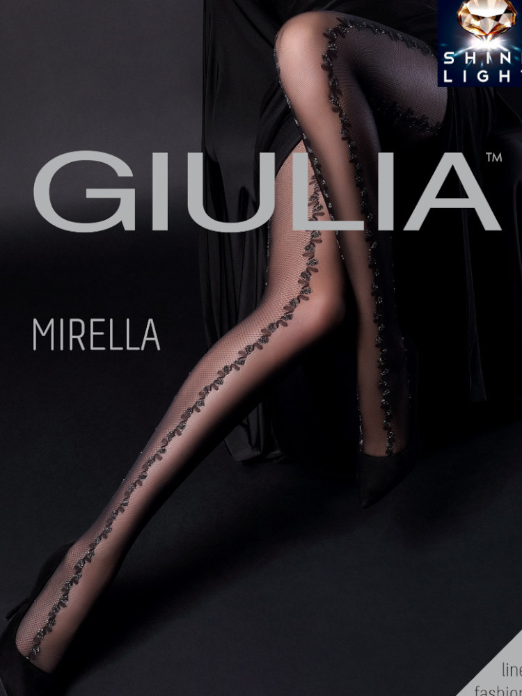 Image of Giulia Mirella 20 Fishnet Tights-Medium-Black