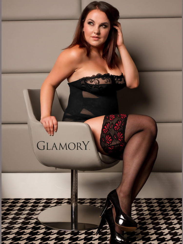 Image of Glamory Deluxe 20 Hold-Ups-Black / Red- 2XL