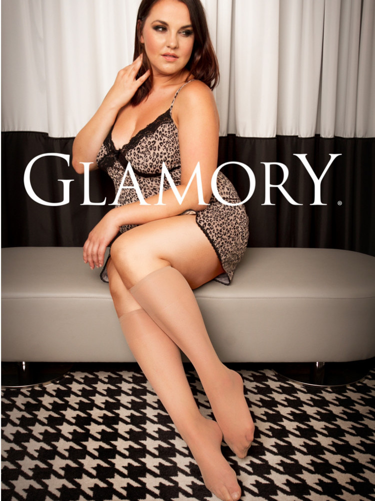 Image of Glamory Fit 20 Knee Highs-One Size-Black