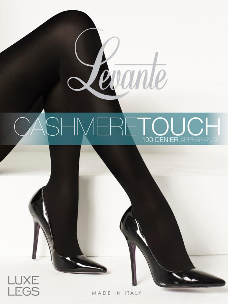 Image of Levante Cashmere Tights-Nero / Nero-Medium