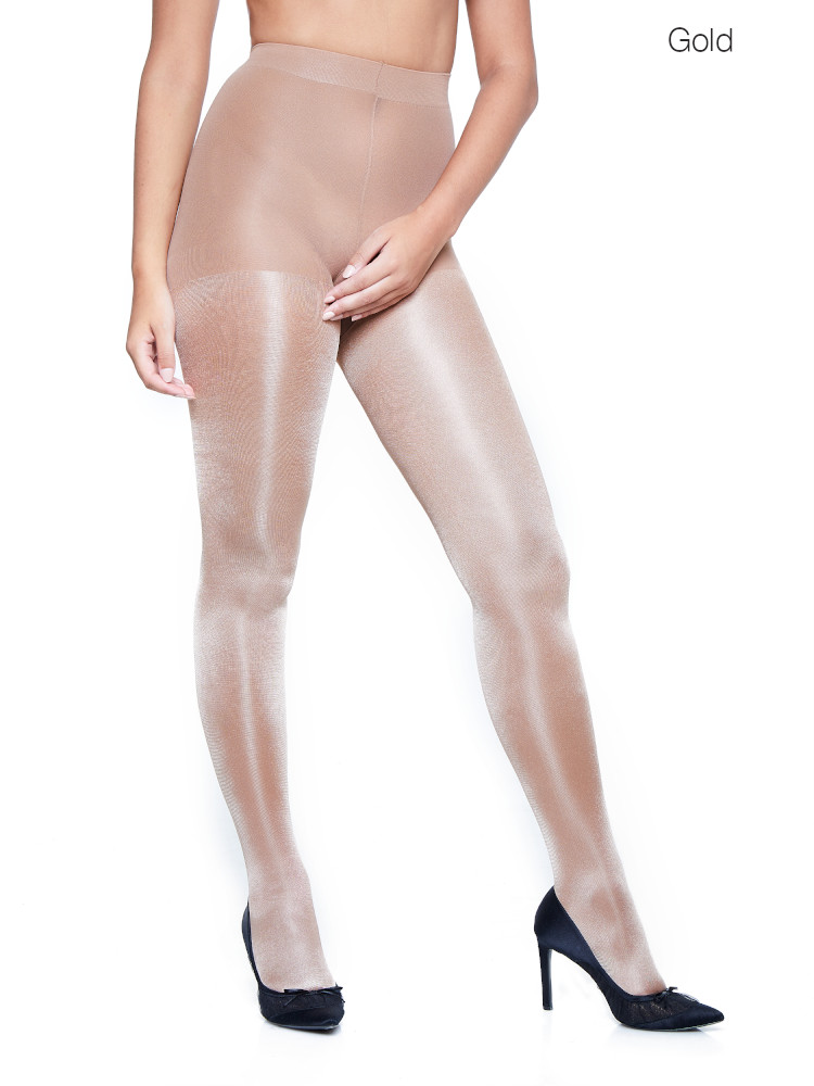 Image of Miss Naughty Metallic Shine Crotchless Tights-XXXL-Fuchsia