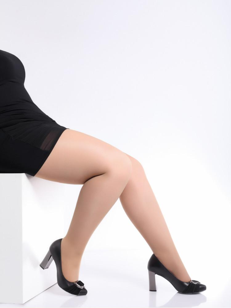 Image of Giulia Molly 40 Plus Size Tights up to XXXXL-Daino-2XL