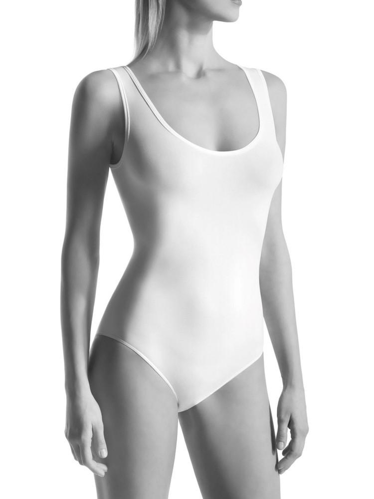 Image of Oroblu Dolce Vita Round Neck Bodysuit-Black-L / XL