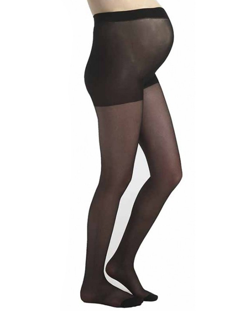 Image of Pamela Mann 15 Denier Sheer Maternity Tights - Hosiery Outlet-One Size-Black