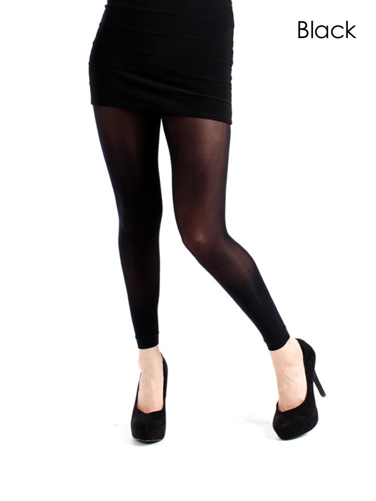 Image of Pamela Mann 50 Denier Footless Tights-XXL-Leaf Green