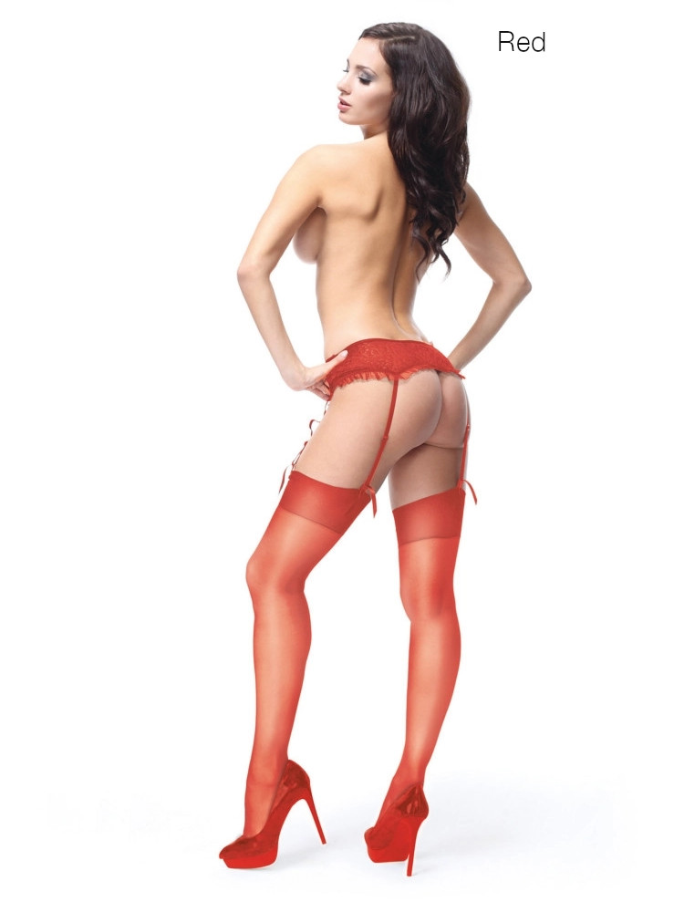 Image of Miss O Silky Stockings-XXL-Black