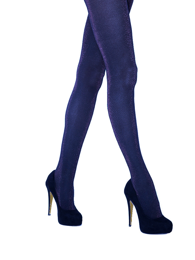 Image of Jonathan Aston Glitz Glitter Tights-B (Medium)-Royal/Black
