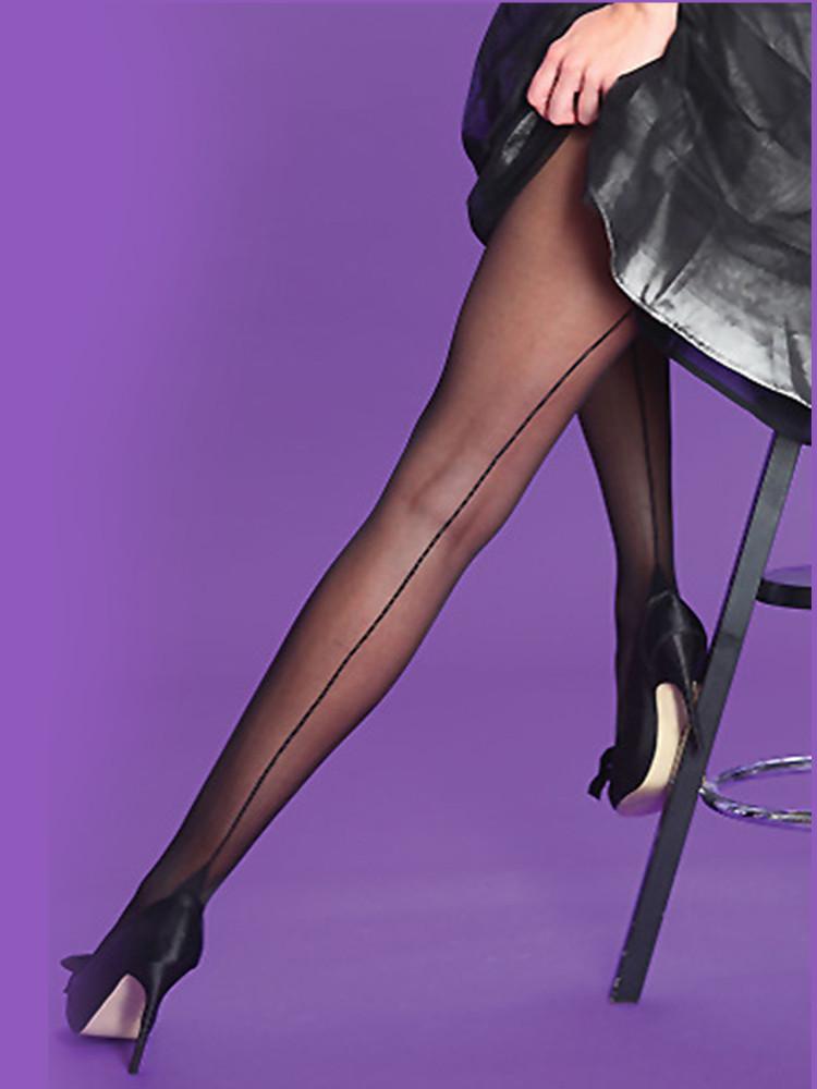 Image of Scarlet Seamer Tights Black/Black L