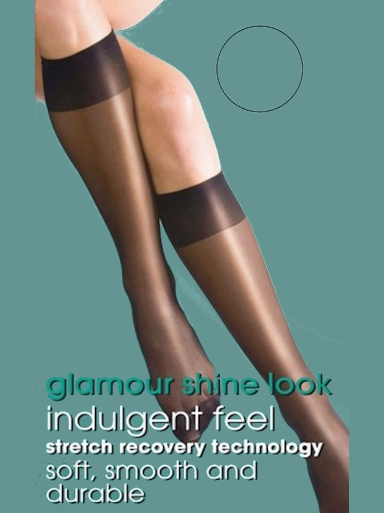 Image of Silky Super Shine Knee Highs-Barely Black-One Size
