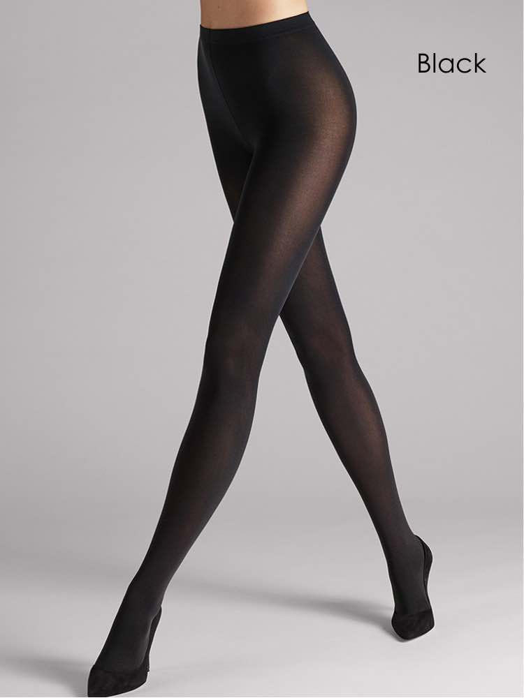Image of Wolford Velvet De Luxe 66 Tights-Small-Red Rust